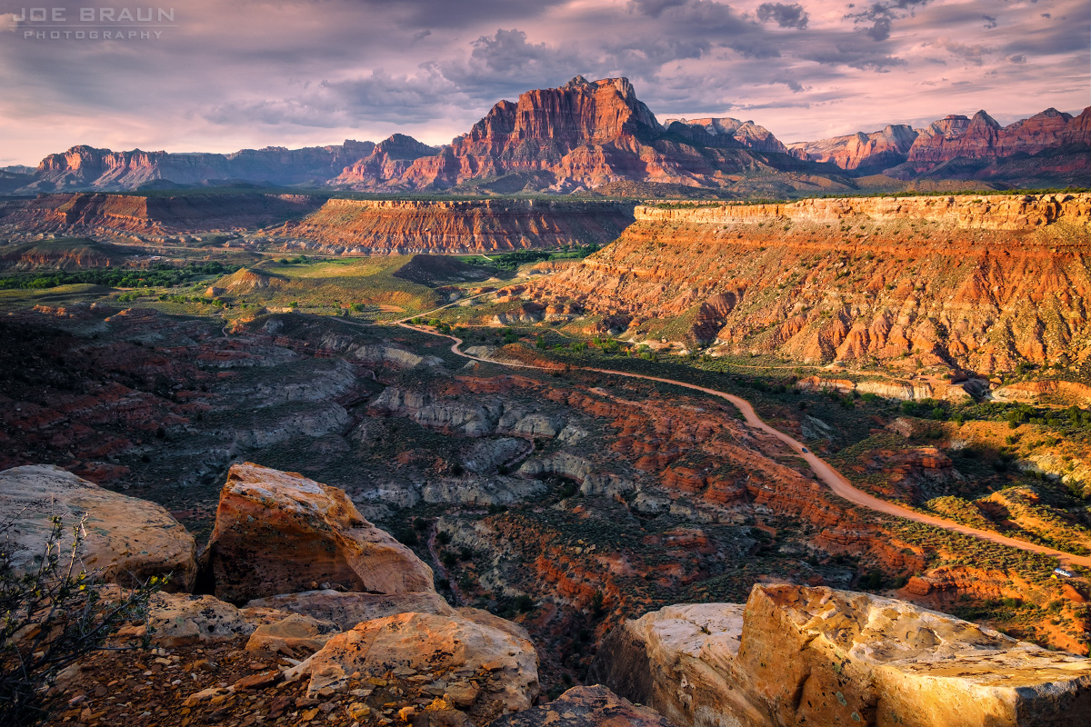 Mount Kinesava sunset (Zion National Park) -- © 2016 Joe Braun Photography