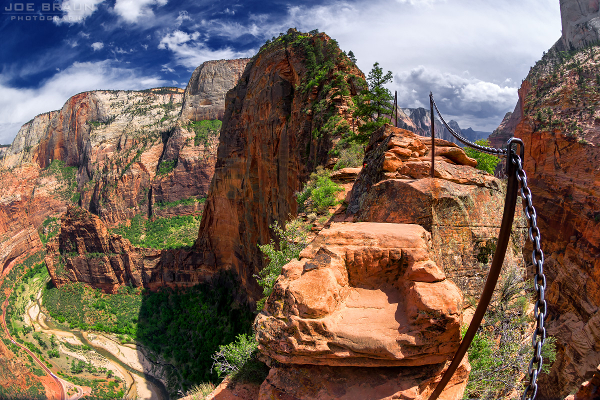 Angels Landing Step of Faith (Zion National Park) -- © 2013 Joe Braun Photography